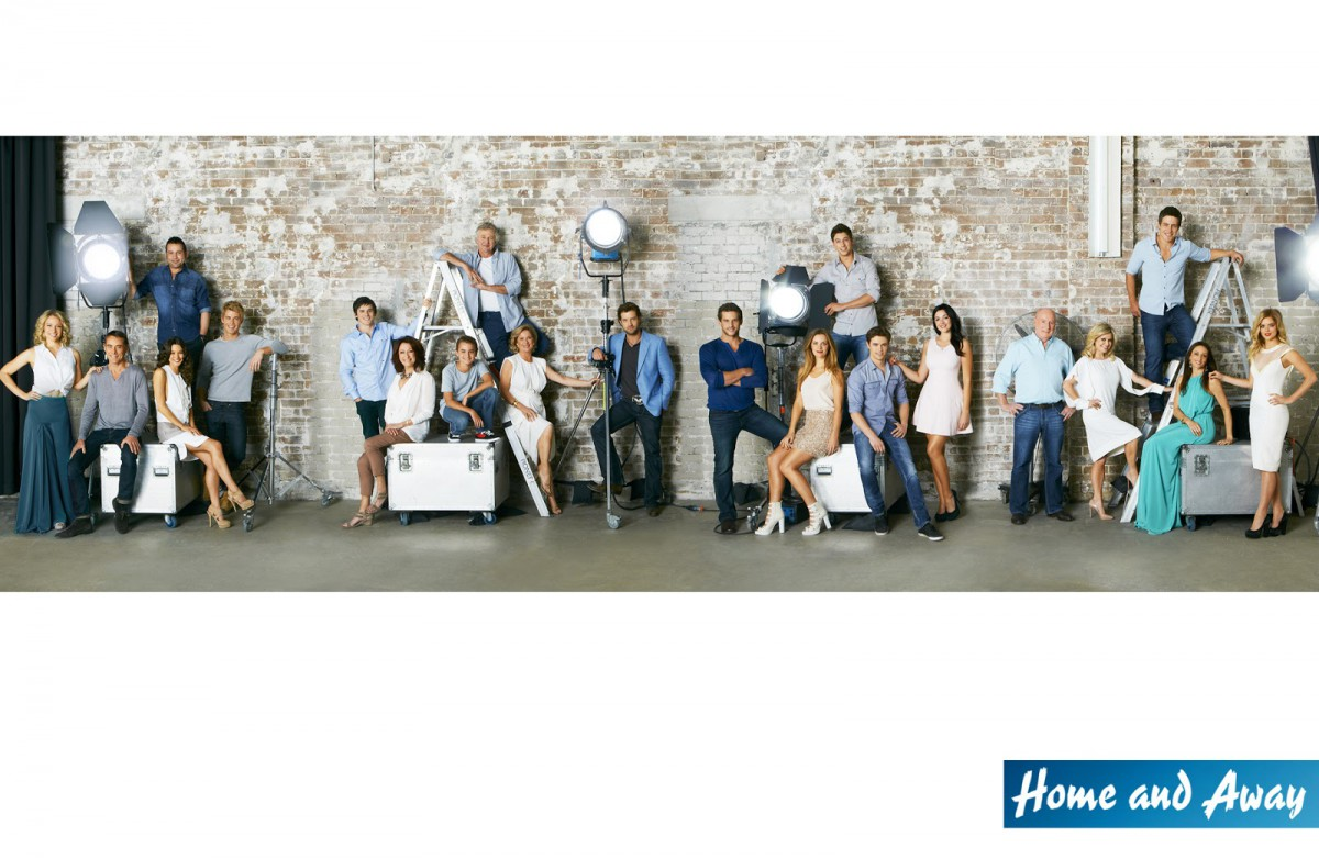 Home and away Cast Photographed by Adam Flipp B